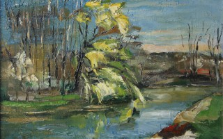 Willows on Neajlov River