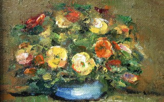 Pansies in Clay Pot