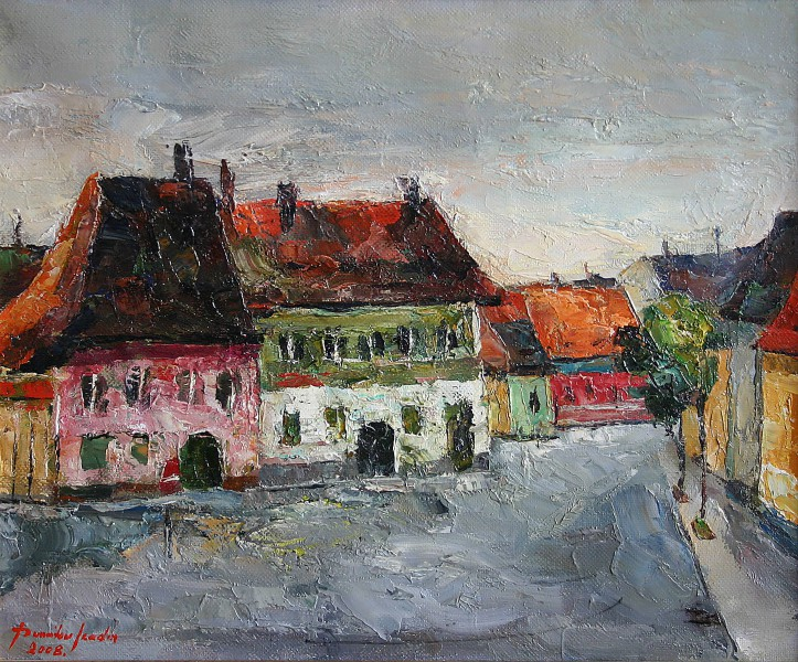 Old houses in Sibiu 43x35cm