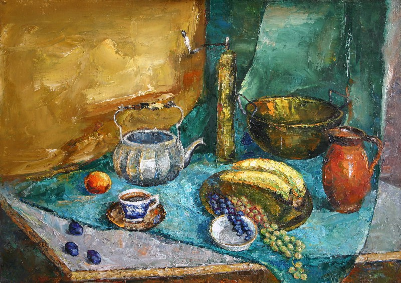 Still life with banana 80x60cm