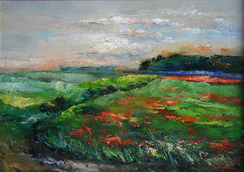 field of poppies 70x50cm