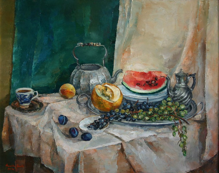 still life with melons 87x70cm